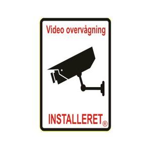1 stk. Videoovervågning skilt til hus hvid 75 x 50