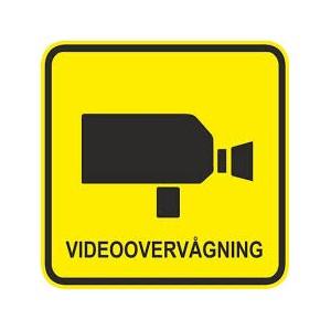 4 stk. Videoovervågning 60 x 60mm udendørs montering