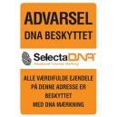SelectaDNA Hård Plast Sikringsskilt 30 x 30 cm. 1 mm.