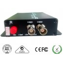 2-Ch HDCVI Video over Fiber Media Converter
