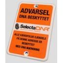 SelectaDNA Bil Sikringsmærke 7x10 cm.
