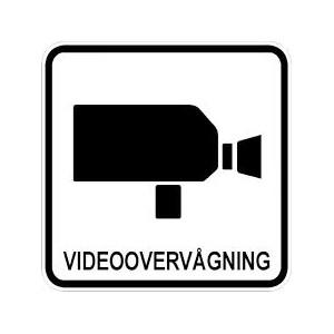 2 stk. Videoovervågning 100 x 100mm udendørs montering