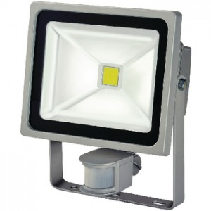 Lampe med COB-LED 30 W + PIR IP44