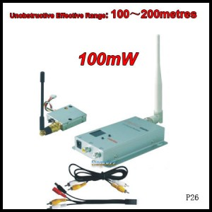 Mini CCTV Camera Wireless A/V Transmitter Receiver Kit 100mW