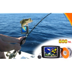 Underwater fishing Diving camera 1/3 inch CCD 600tvl 15m underwater fishing video camera
