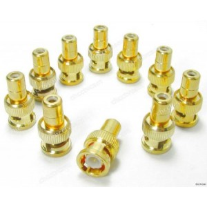 BNC Male to RCA Female Adapter Gold Plated