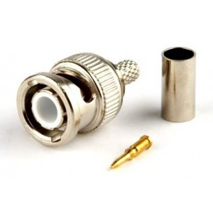 BNC male crimp cable connector for CCTV, DVR