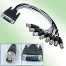 DB15 to 8 BNC Female Connector Cable for CCTV System