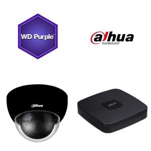 Dahua KIT 4 kanalers NVR 1TB med indbygget PoE switch