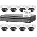 Dahua KIT HDCVI 4 kanalers TRIBRID + 2 stk 4 MP DOME 3,6 mm IR-lys + 2 TB