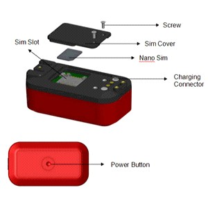 Mini gps tracker with engine shut off remote control fuel cut function for vehicle