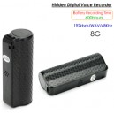 Hidden Voice Recorder, Audio Format WAV 192Kbps /48KHz, Battery Recording Time 600hours,8GB